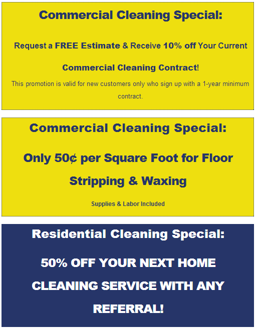 Cleaning Specials